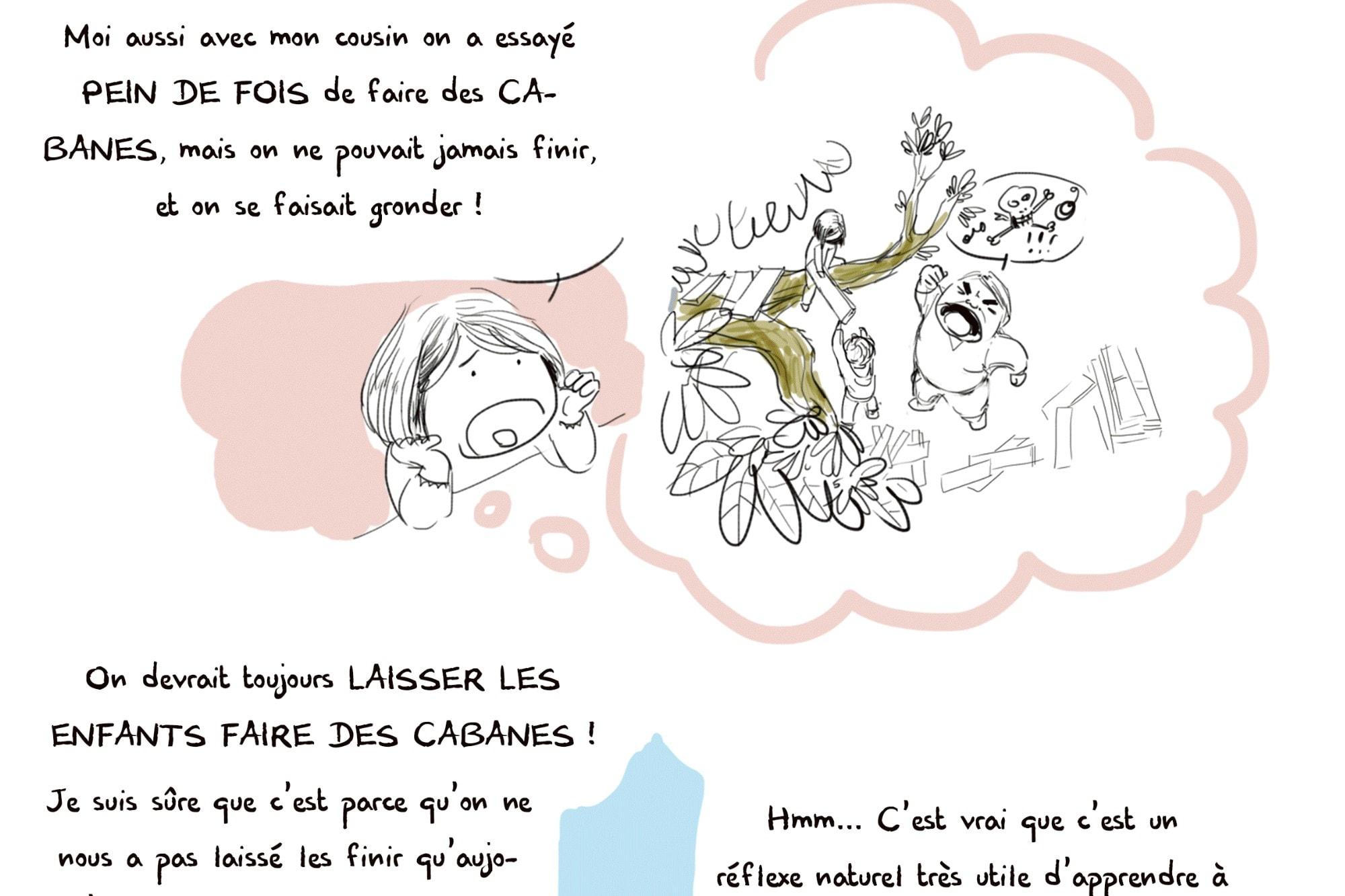 Photo de couverture de la bande dessinée jeunesse d'Art-mella À nos cabanes!