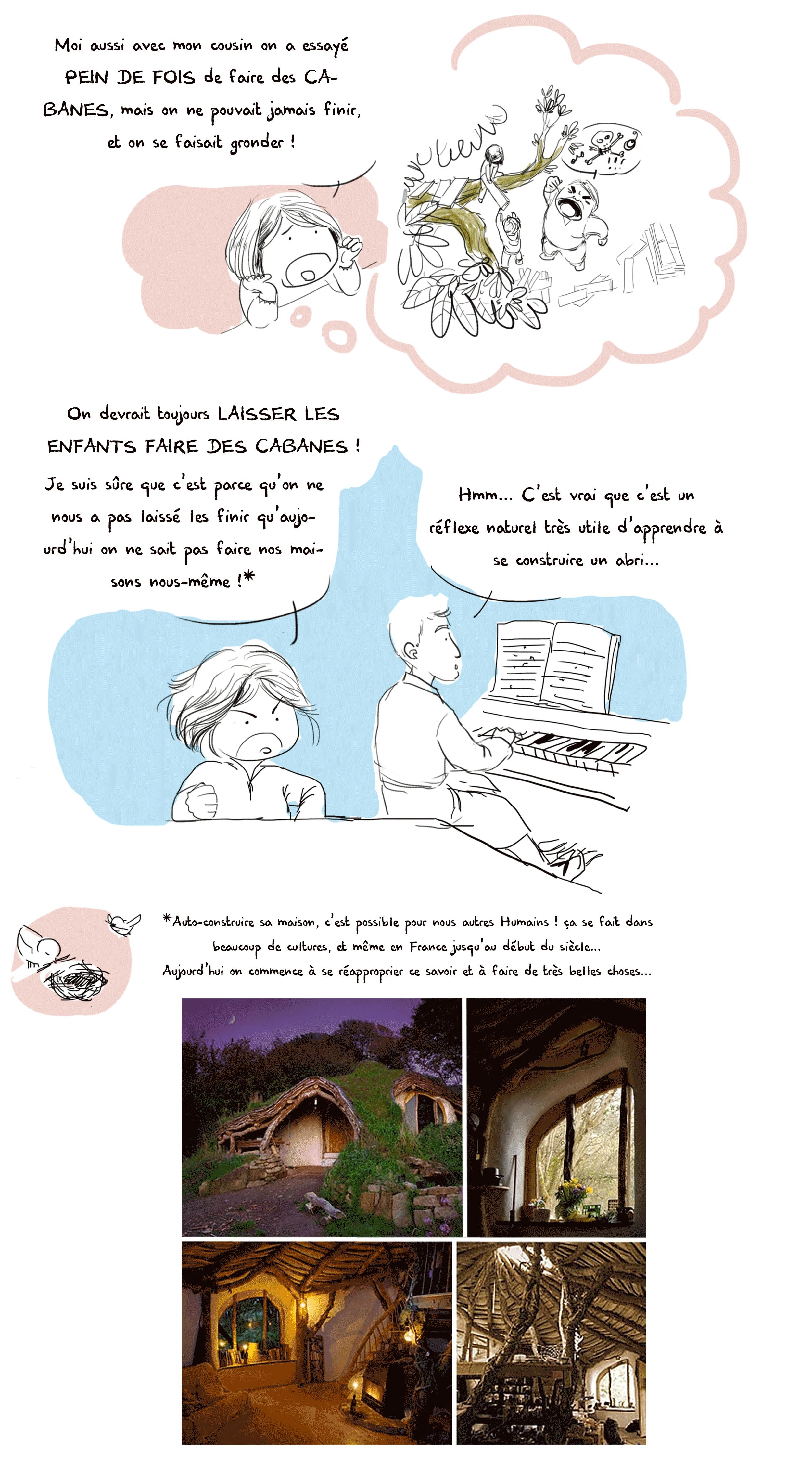 Partie 1 de la bande dessinée jeunesse d'Art-mella qui invite les enfants à prendre des risques.