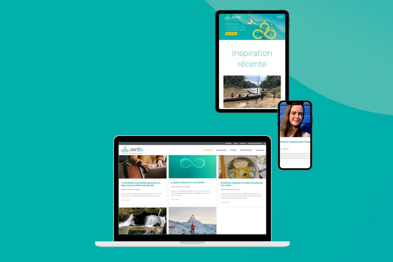 Image qui présente le magazine numérique Zenflo sur divers outils technos.