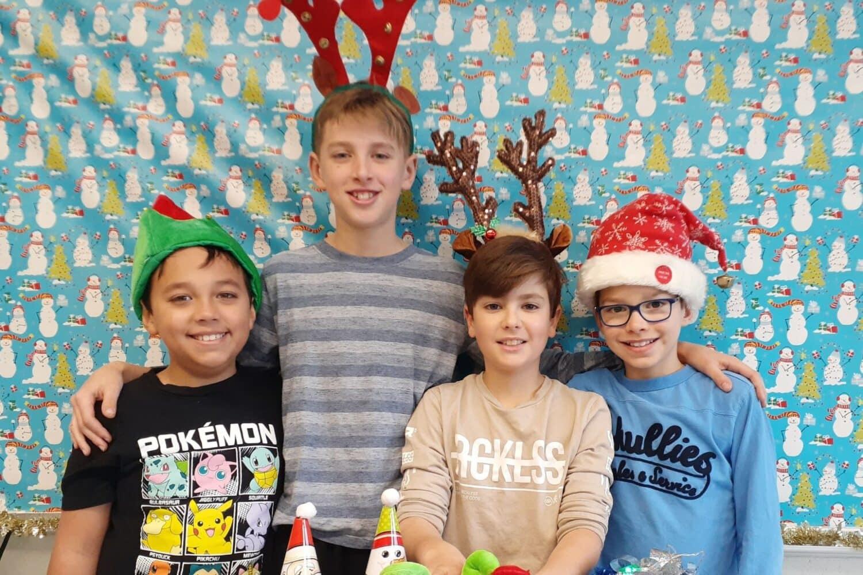 Portrait des 4 élèves qui ont rédigé cet article sur un Noël réussi
